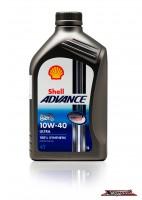 น้ำมันเครื่อง สังเคราะห์ 100% SHELL ADVANCE 10W40