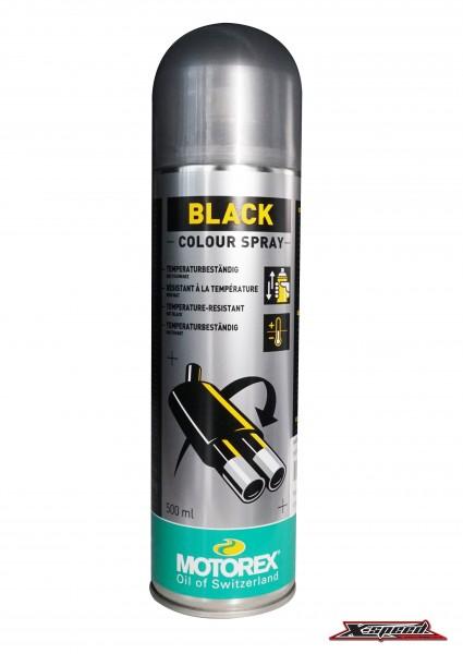 สีสเปรย์พ่นเครื่องยนต์  MOTOREX BLACK COLOR SPRAY - 500ML|BLACK COLOUR SPRAY.jpg