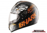 หมวกกันน็อค Shark Helmets S600 POONKY Black orange