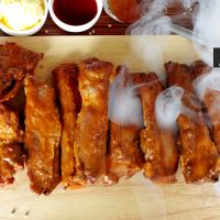 ซี่โครงหมูบาร์บีคิว American แพ็คสูญญากาศพร้อมทาน (American BBQ Ribs)
