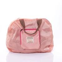 กระเป๋าพับได้ (ใบใหญ่)Bag two colors Pink