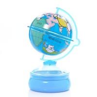 กระปุกออมสิน ลูกโลกสีฟ้า Piggy bank Globe 2 colors Blue