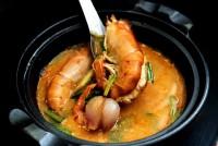 ต้มยำกุ้งแม่น้ำใหญ่น้ำข้น(กุ้ง2ตัว) River prawn spicy soup