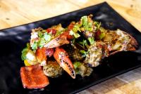 ปูทะเลเนื้อผัดพริกไทยดำ ( ไซส์ 3ตัวโล )Stir-fried Crab with black pepper Size 3 pcs/kg