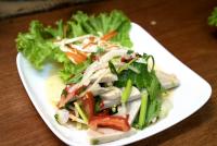 ยำหมูยอ Vietnamese Sausage Spicy Salad