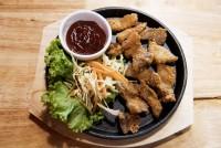 หมูสามชั้นทอดน้ำปลา Fried Pork belly with Fish Sauce