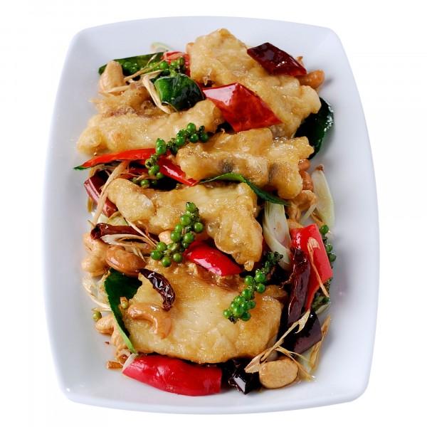 เนื้อปลากระพงผัดพริกแห้งเม็ดมะม่วงสมุนไพร|13-เนื้อปลากระพงผัดพริกแหงเม็ดมะม่วงสมุนไพร.jpg
