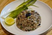 ข้าวผัดหนำเลียบ Stir fried minced pork with shinese black olive fried rice