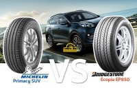 รีวิวยาง SUV เปรียบเทียบ : Michelin Primacy SUV VS Bridgestone EP850