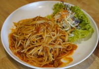 สปาเก๊ตตี้หมูสับ Stir-Fried Minced Pork and Spaghetti
