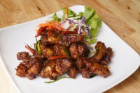 หมูสามชั้นผัดพริกขิง Stir Fried pork belly with ginger