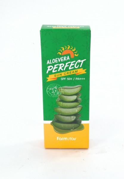 กันแดด 70มล. สูตรอโลเวล่า ช่วยให้ผิวชุ่มชื่น แม้แดดจะแรง  Farmstay Aloevera Perfect Sun Cream|Slide089.jpeg
