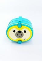 กล่องข้าวน้องหมี พร้อมช้อนส้อม มีให้เลือก3สี 3 layers Lunch box 3 colors blue