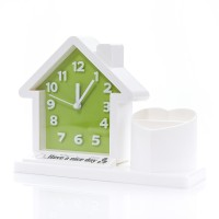 นาฬิกา รูปบ้าน Clock house Green