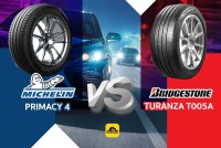 TIRESBID รีวิวยางเปรียบเทียบ : Michelin Primacy 4 Vs Bridgestone T005A