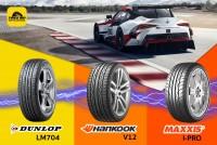 TIRESBID รีวิวยางเปรียบเทียบ : Dunlop LM704 Vs Hankook V12 Vs Maxxis I-PRO