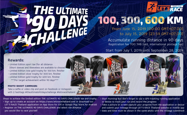 LET'S RACE Thailand | สำหรับต่างชาติ THE ULTIMATE 90 DAYS CHALLENGE